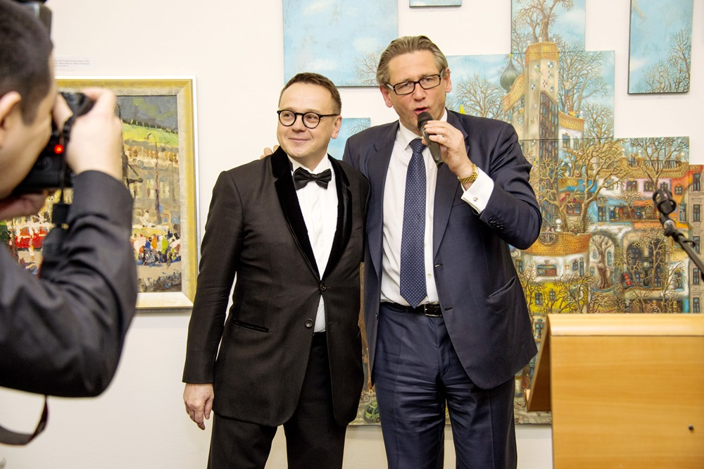 "Opening of Exhibition ""Austria though the eyes of modern Russian Artists"". 13th March 2014, Vienna."